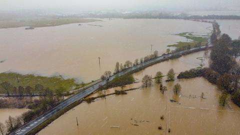 Auch in Altenstadt-Lindheim (Wetterau) kam es zu Überflutungen.