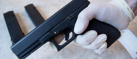 Mit dieser Waffe erschoss David S. im Juli 2016 neun Menschen.