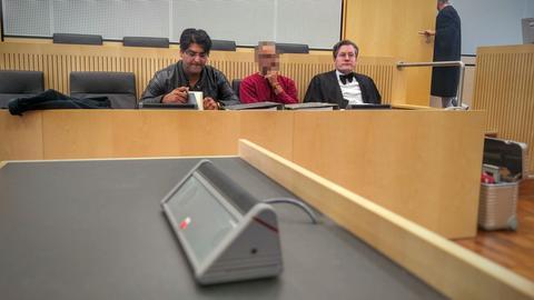 Der Angeklagte im Gerichtssal in Limburg am Freitag.