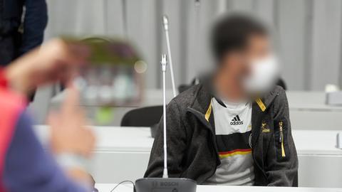 Der Angeklagte im Limburger Prozess um eine Lkw-Attacke mit 18 Verletzten