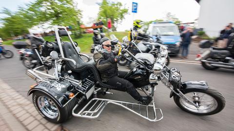 Biker auf Trike