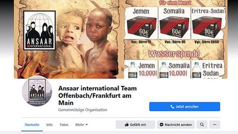 Facebook-Seite von Ansaar Offenbach/Frankfurt