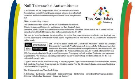 Anzeige der Theo-Koch-Schule Grünberg im Gießener Anzeiger