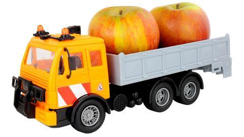 Apfel-Lastwagen