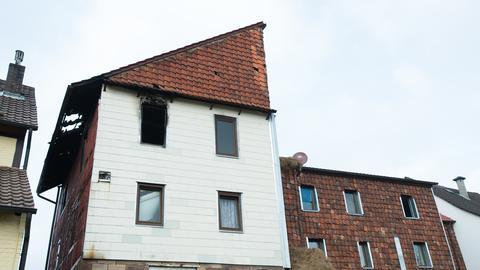 Brand in Flüchtlingsunterkunft in Helsa