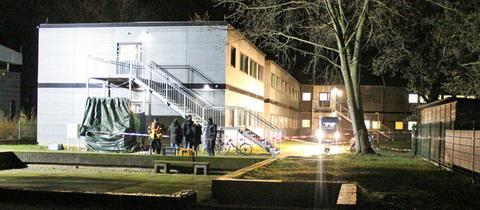 Polizei- und Rettungseinsatz in der Asylunterkunft Großkrotzenburg