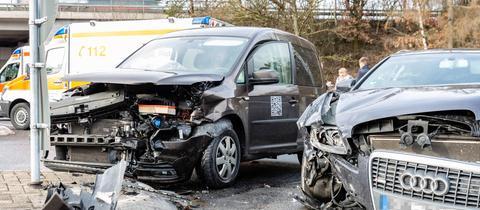 Die Unfallstelle an der Autobahnauffahrt bei Idstein