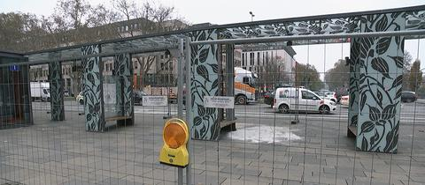 Unfallstelle vor dem Wiesbadener Bahnhof