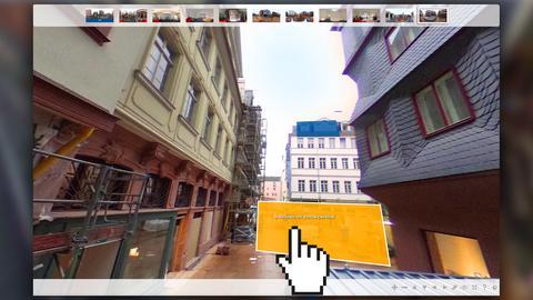 Ein virtueller 360-Grad-Rundgang durch die Frankfurter Altstadt.