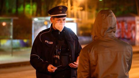 Polizeikontrolle Ausgangssperre