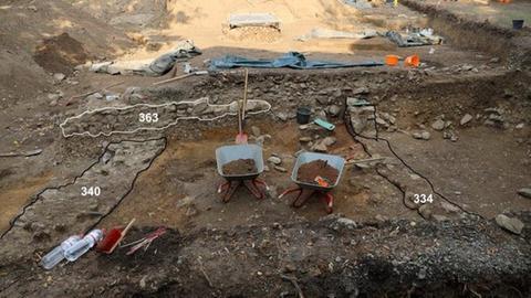 Die Ausgrabungsstätte in Wetzlar.