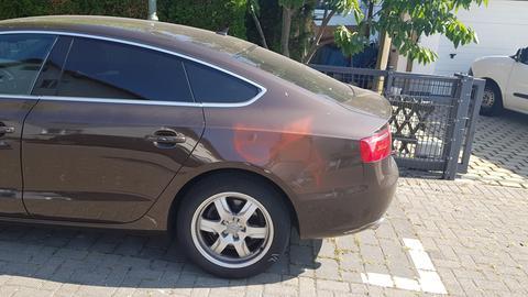Beschmiertes Auto in Gießen.