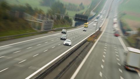 Blick auf eine Autobahn