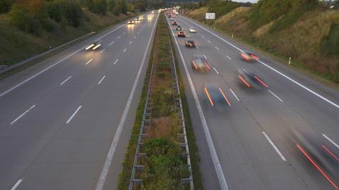 Blick auf Autobahn