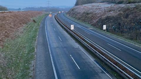 Raureif an der A45