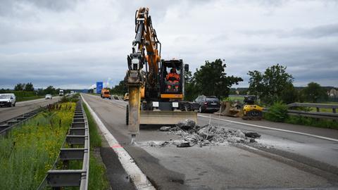 Bauarbeiten auf der A6