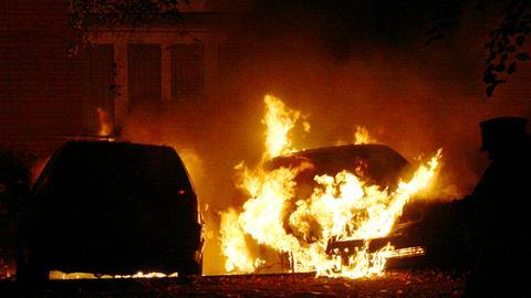 Brand Feuer Auto Sujet