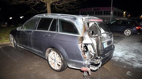 Brandschaden an Auto