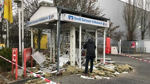 Gesprengter Geldautomat in Mörfelden