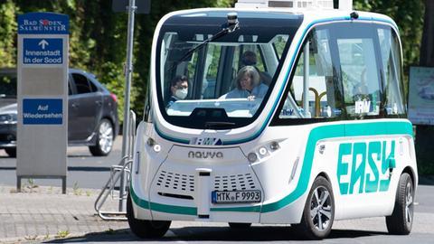 Autonom fahrender Bus in Bad Soden-Salmünster: Pilotprojekt des RMV