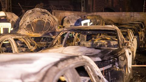 Verbrannte Autos