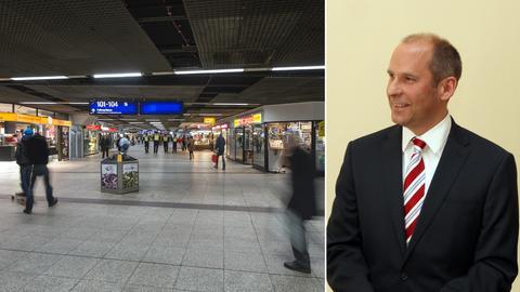 B-Ebene des Frankfurter Hauptbahnhofs, OLG-Präsident Roman Poseck