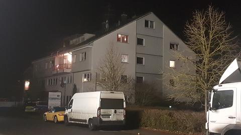 Tatort einer Messerstecherei in Babenhausen