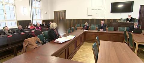 Die Angeklagte vor Gericht