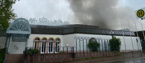 Das brennende Kurhaus in Bad Wildungen