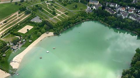 Das Strandbad Rodgau von oben