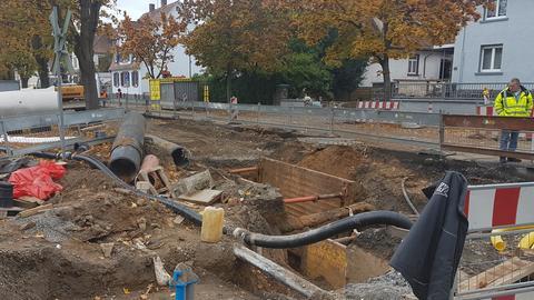 Baugrube in Groß-Bieberau