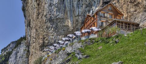 Das Unglück passierte in der Nähe des Berggasthofs Aescher.