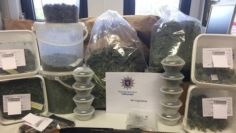 Sichergestelltes Marihuana und Cannabis