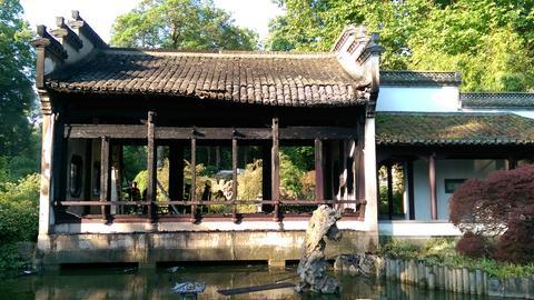 Ausgebrannter Pavillon im Bethmannpark