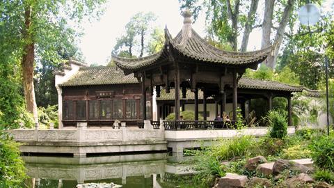 Chinesischer Pavillon im Bethmannpark Frankfurt