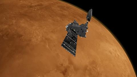 Orbiter über dem Mars