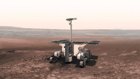 Grafik: Rover auf dem Mars