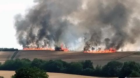 Feldbrand bei Grävenwiesbach