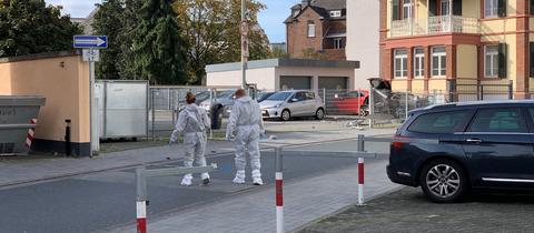 Tatort in der Limburger Innenstadt.