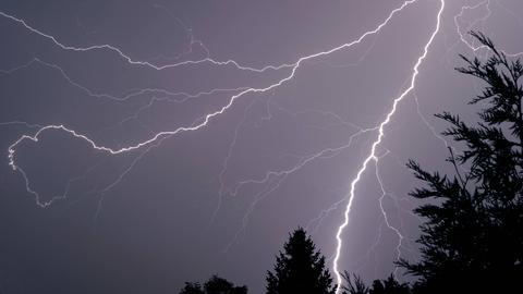 Blitz über Hessen