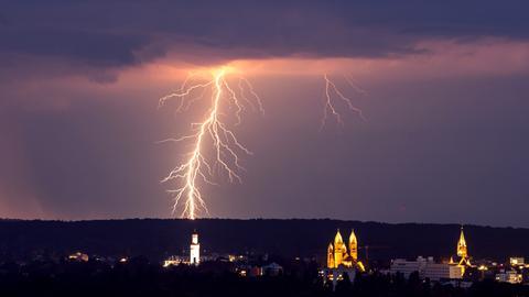 Blitz über Bad Homburg