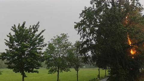 Blitzeinschlag bei Twistetal