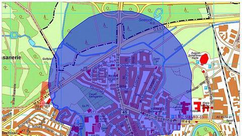 Evakuierungszone für Bombenentschärfung in Hanau-Nordwest