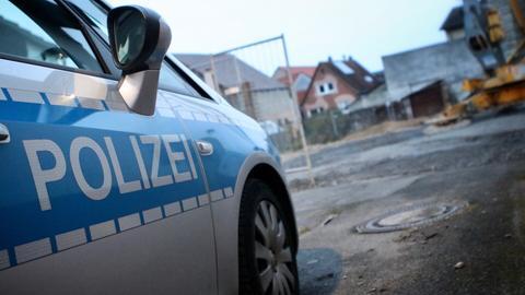 Polizei am Fundort der Fliegerbombe in Bensheim