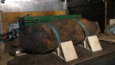 Entschärfte Weltkriegsbombe