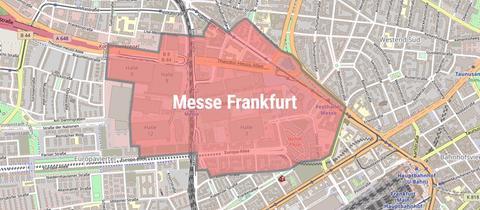 Die Karte zeigt den Bereich der Evakuierung während der Bombenentschärfung.