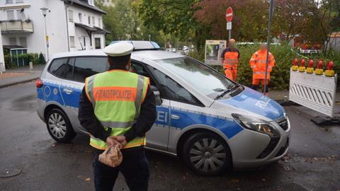 Polizist, Streifenwagen, Arbeiter