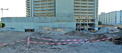 Fundstelle der Bombe in Offenbach