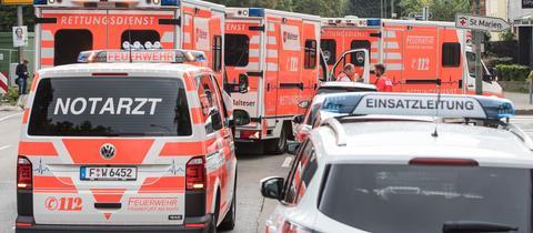 Rettungswagen zur Evakuierung von Krankenhauspatienten