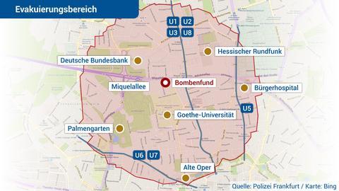 Bombenfund Frankfurt Karte